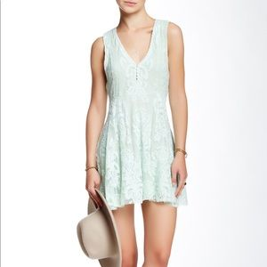 free people Reign Over Me Lace Dress In Sea Green